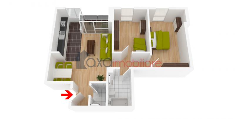 Apartment 3 rooms for  sell in Cluj Napoca, BORHANCI ID 2924