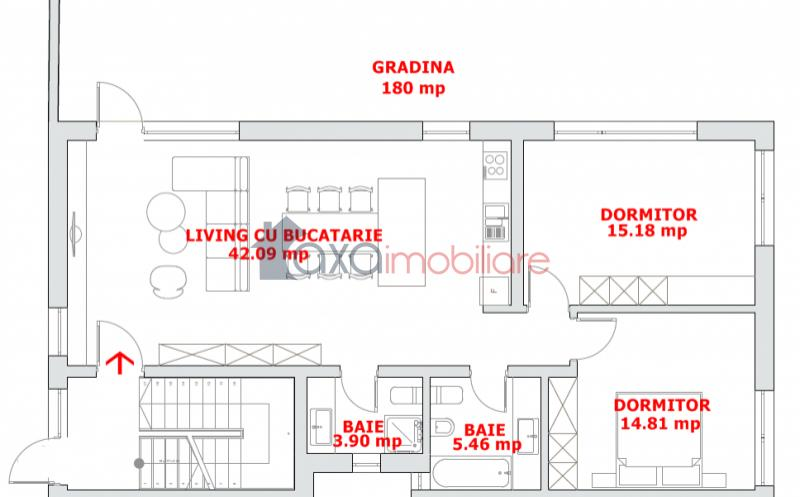 Apartment 3 rooms for  sell in Cluj Napoca, A. MURESANU ID 3061