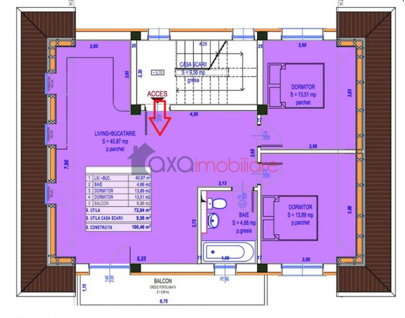Apartment 3 rooms for  sell in Cluj Napoca, Europa ID 3827