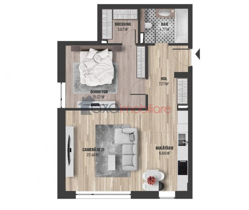 Apartment 2 rooms for  sell in Cluj Napoca, Gheorgheni ID 4703