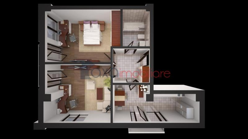 Apartment 2 rooms for  sell in Cluj Napoca, Marasti ID 1919