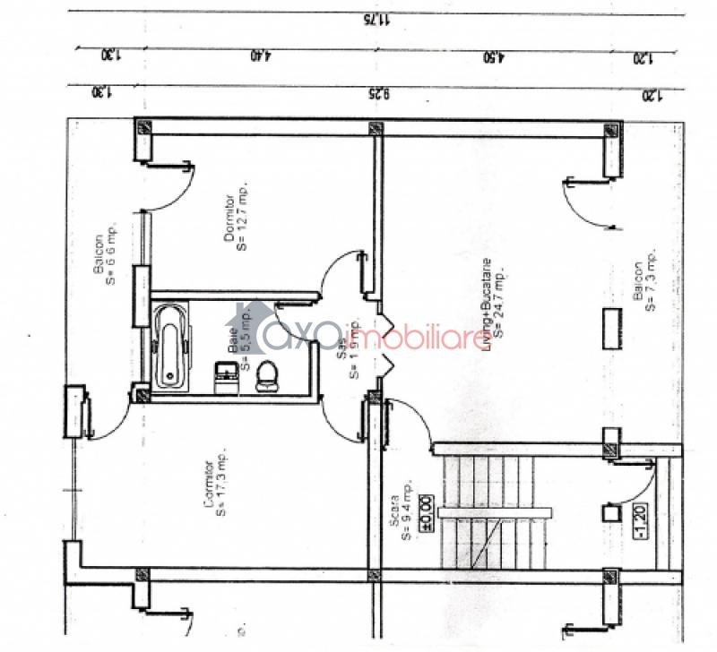Apartment 2 rooms for  sell in Cluj Napoca, Manastur ID 513