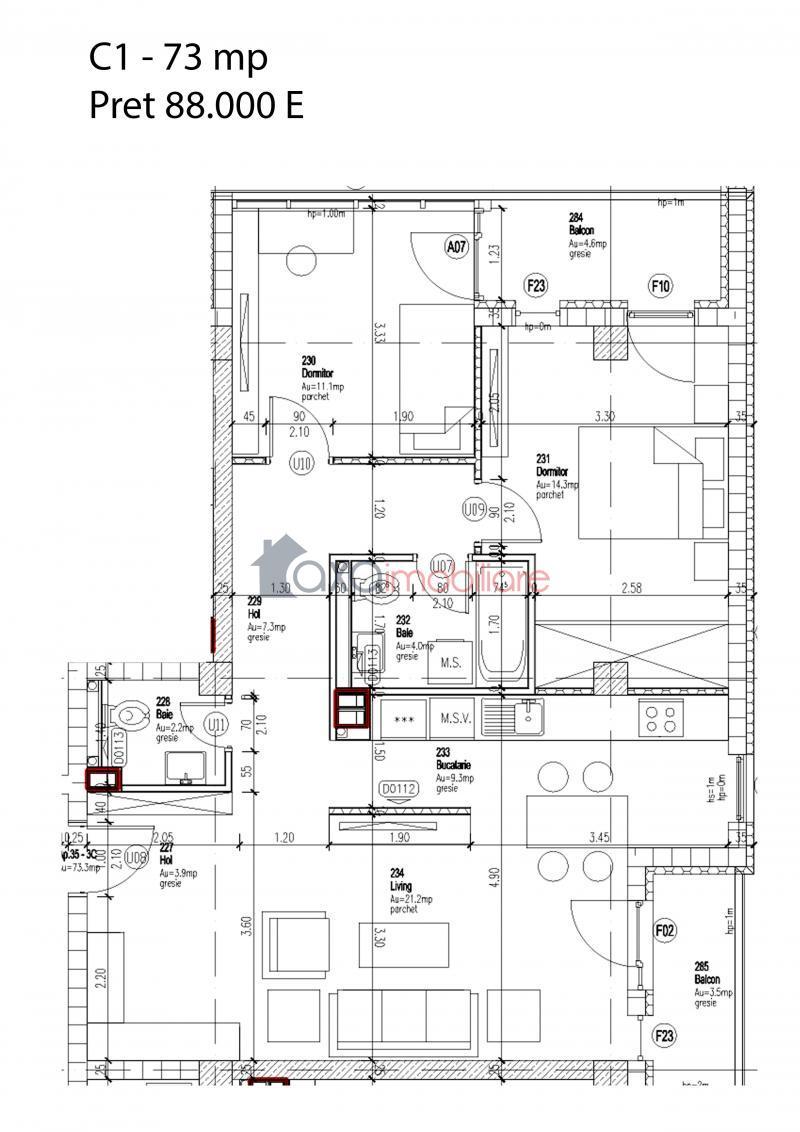 Apartament 3 camere de  vanzare in Cluj Napoca, Zorilor