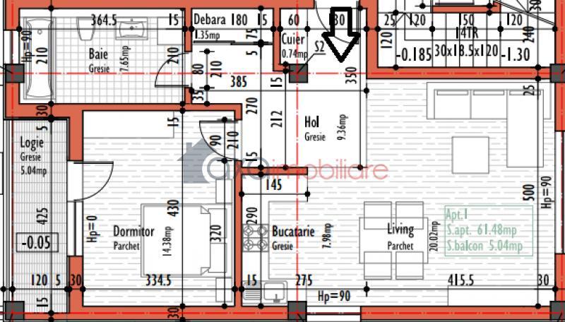 Apartament 2 camere de  vanzare in Cluj Napoca, BUNA ZIUA