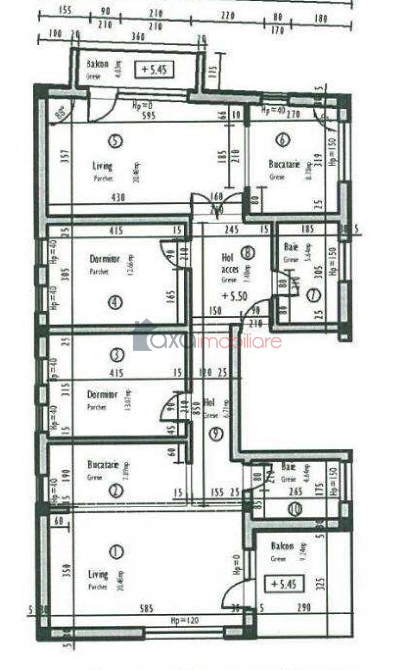 Apartament 5 camere de  vanzare in Cluj Napoca, Manastur