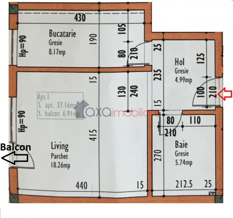 Apartament 1 camere de  vanzare in Cluj Napoca, Europa