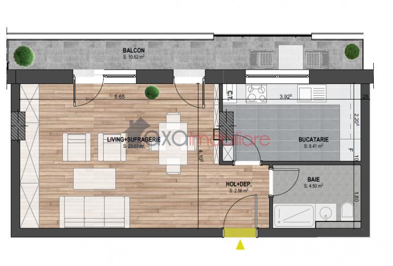 Apartament 1 camere de  vanzare in Cluj Napoca, Gheorgheni