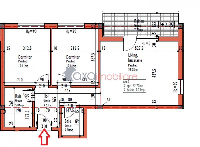Apartament 3 camere de  vanzare in Cluj Napoca, Calea Turzii