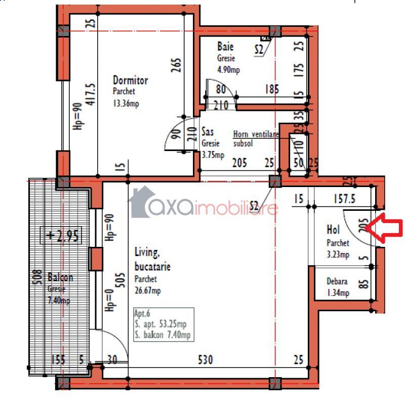 Apartament 2 camere de  vanzare in Cluj Napoca, Calea Turzii
