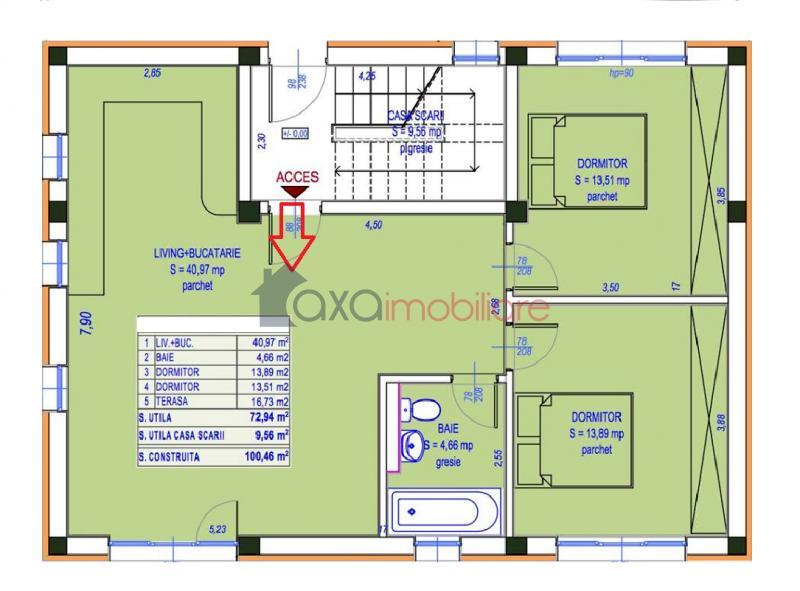 Apartament 3 camere de  vanzare in Cluj Napoca, Europa