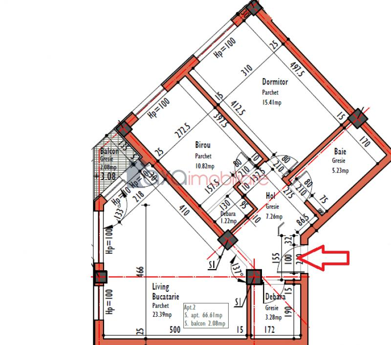 Apartament 3 camere de  vanzare in Cluj Napoca, Semicentral